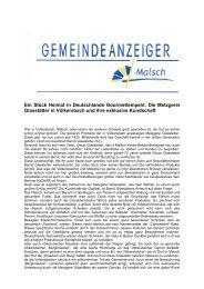 GA 1-2014 - Gemeinde Malsch