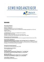 GA 28-2013 - Gemeinde Malsch