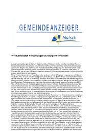 GA 23-2013 - Gemeinde Malsch