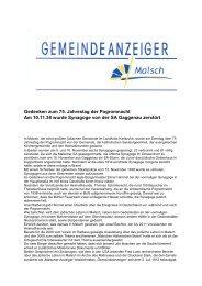 GA 46-2013 - Gemeinde Malsch
