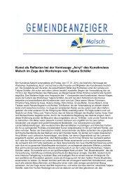GA4-2014 - Gemeinde Malsch