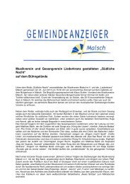 GA 26-2013 - Gemeinde Malsch
