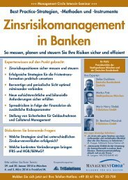 Seminar: Zinsrisikomanagement in Banken - Management Circle AG