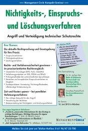 Seminar: Nichtigkeits-, Einspruchs- und Löschungsverfahren ...