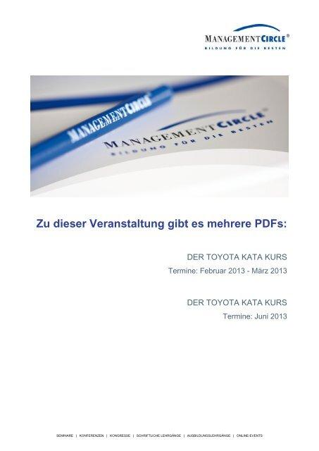 Zu dieser Veranstaltung gibt es mehrere PDFs: - Management Circle ...