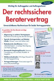 programm downloaden - Management Circle AG