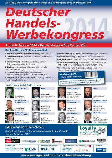 Deutscher Handels- Werbekongress 5. und 6. Februar 2014 • Barceló ...