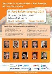 6. Food Safety Kongress 2014 - Management Forum
