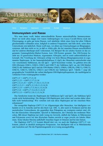 Immunsystem und Rasse - von Manfred Hiebl