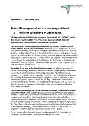 Pressemitteilung als PDF - Deutsche Gesellschaft für Mann und ...