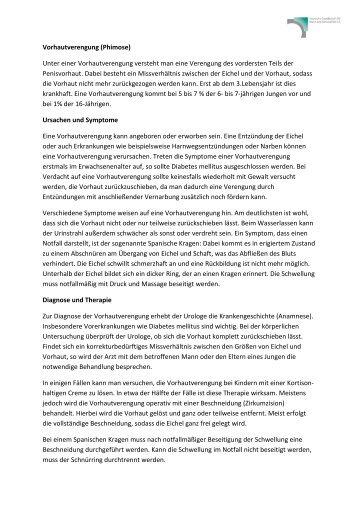 Vorhautverengung - Deutsche Gesellschaft für Mann und Gesundheit