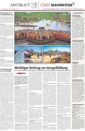 Wichtiger Beitrag zur Imagebildung - Stadt Mannheim