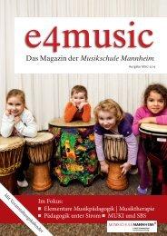 Das Magazin der Musikschule Mannheim - Stadt Mannheim