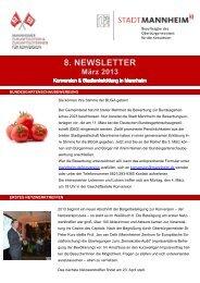 Zum 8. Newsletter (März 2013) - Stadt Mannheim