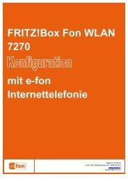 FRITZ!Box Fon WLAN 7270 mit e-fon Internettelefonie