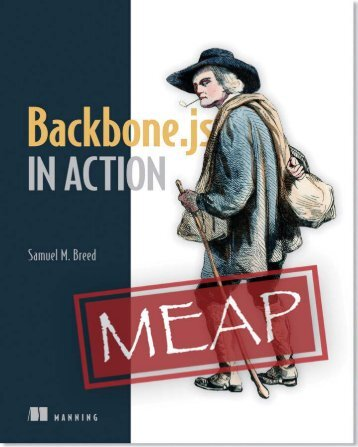 Modern JavaScript with Backbone - Manning Publications