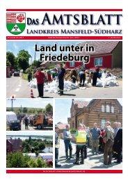 Land unter in Friedeburg - Landkreis Mansfeld-Südharz