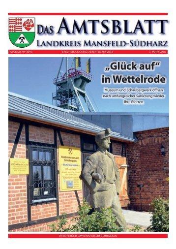 """""""Glück auf"""" in Wettelrode - Landkreis Mansfeld-Südharz"""