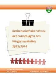 Landkreis Mansfeld-Südharz Amt für Finanzen Sangerhausen, den ...