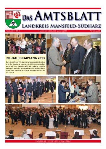 NEUJAHRSEMPFANG 2013 - Landkreis Mansfeld-Südharz