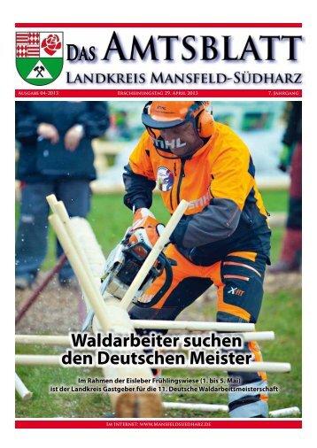 Waldarbeiter suchen den Deutschen Meister Waldarbeiter suchen ...