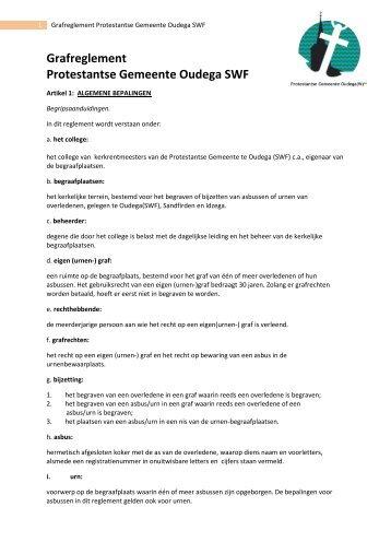 reglement - Protestantsekerk.net