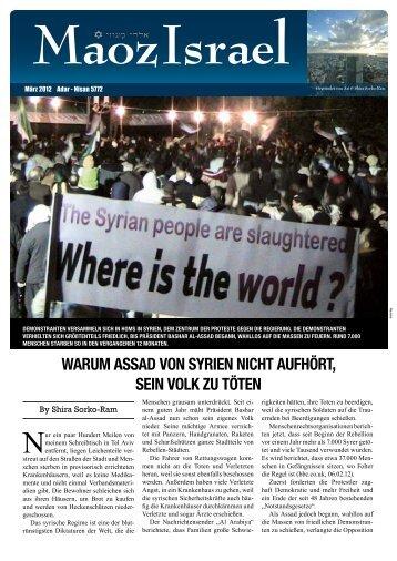 warum assad von syrien nicht aufhört, sein volk zu töten - Maoz Israel