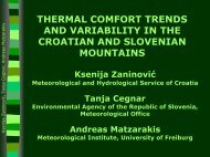 Thermal comfort trends and variability in the Croatian and Slovenian ...