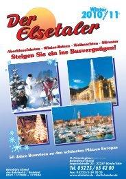Tagesfahrten & Weihnachtsmärkte - Der Elsetaler