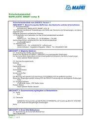 Sicherheitsdatenblatt MAPELASTIC SMART comp. B - Mapei ...