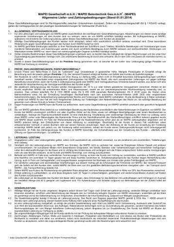MAPEI Gesellschaft m.b.H. / MAPEI Betontechnik Ges.m.b.H1 ...