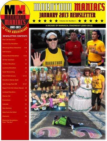 January 2013 - Marathon Maniacs