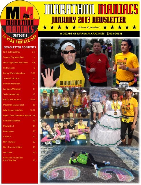 January 2013 - Marathon Maniacs