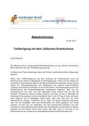 Die Tarifsteigerungen im Detail PDF | 80 KB - Marburger Bund