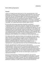 Berliner Erklärung Organspende - Marburger Bund