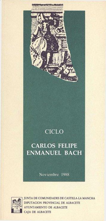 CARLOS FELIPE ENMANUEL BACH - Fundación Juan March