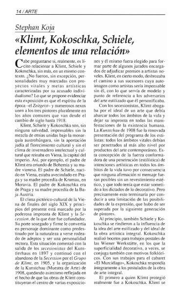 Klimt, Kokoschka, Schiele - Fundación Juan March