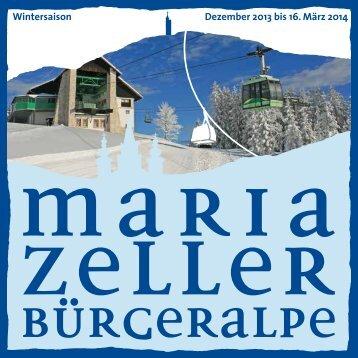 Wintersaison Dezember 2013 bis 16. März 2014 - Mariazell