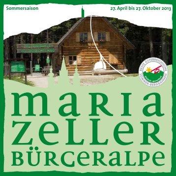 Sommersaison 27. April bis 27. Oktober 2013 - Mariazell