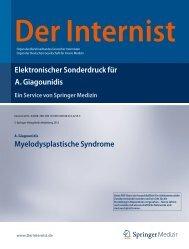 Myelodysplastische Syndrome. In: Der Internist, Vol. 6, 2013.