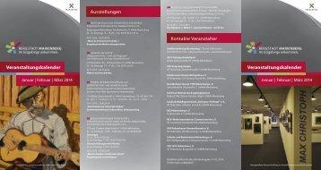 Veranstaltungskalender Januar - März 2014