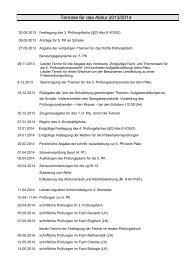 Termine für das Abitur 2013/2014 - Die katholische Schule St ...