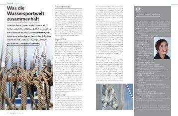 Was die Wassersportwelt zusammenhält - marina.ch