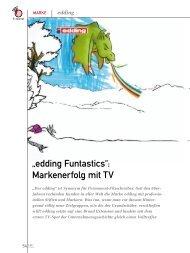 """edding Funtastics"""": Markenerfolg mit TV (PDF) 3/11 - marke41"""