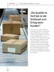 """""""Die Qualität im Vertrieb ist der Schlüssel zum Erfolg beim ... - marke41"""