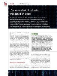 """""""Du kannst nicht tot sein, weil ich dich liebe!"""" (PDF) 1/2013 - marke41"""