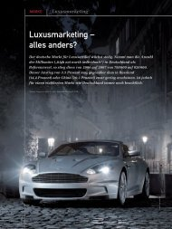 Luxusmarketing - alles anders? (PDF) 5/08 - marke41