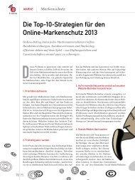 Die Top-10-Strategien für den Online-Markenschutz 2013 - marke41