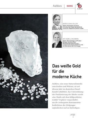 Das weiße Gold für die moderne Küche (PDF) 6/2013 - marke41