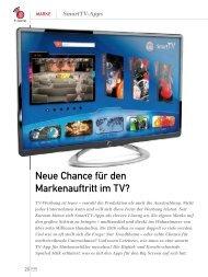 Neue Chance für den Markenauftritt im TV? (PDF) 2/3 2013 - marke41